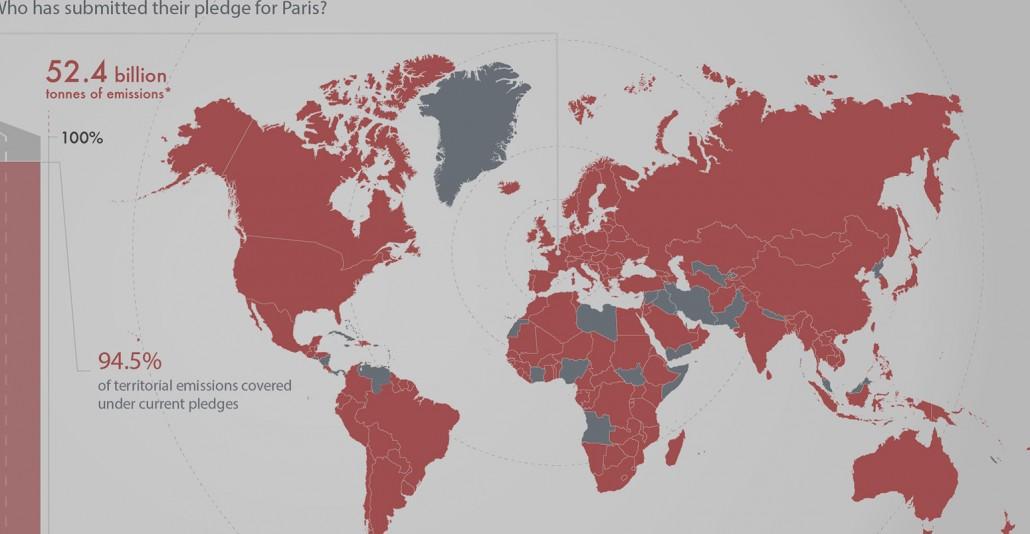 Le emissioni di gas nel mondo